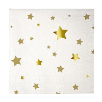 Gold Star Cocktail Napkins