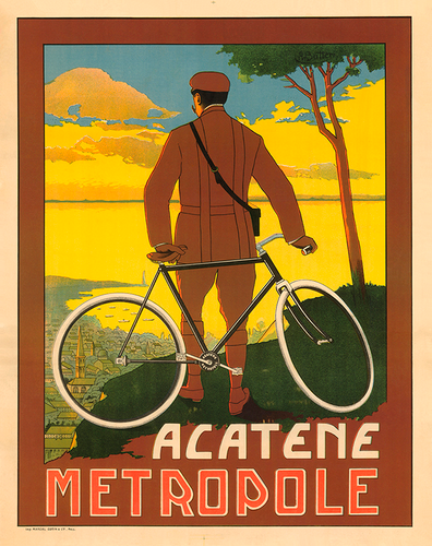 Acatene Metropole Bicycle Poster by Butteri