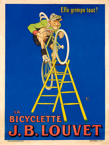 J. B. Louvet Vintage Bicycle Poster