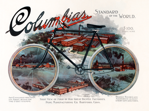 Columbia Factories Vintage Bicycle Poster