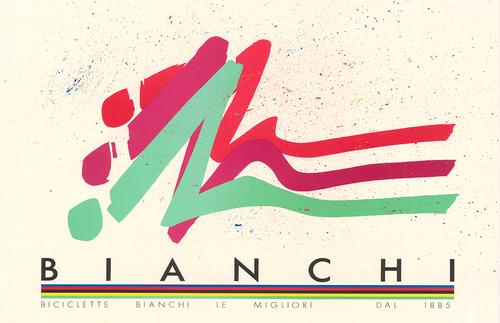 Bianchi Vintage Bicycle Poster