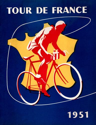 1951 Tour De France Poster