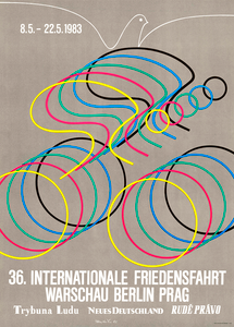 Peace Race 1983 Bicycle Poster