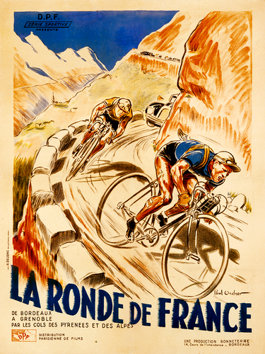 La Ronde De France Poster by Paul Ordner