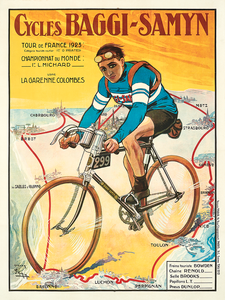 1923 Baggy-Samyn Tour De France Fine Art Bicycle Poster