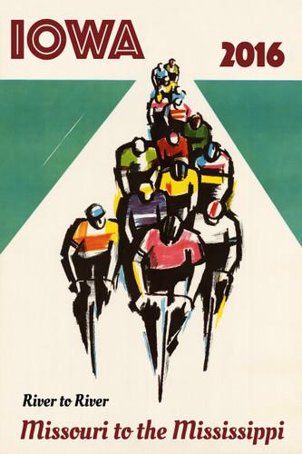 IOWA 2016 Bicycle Poster