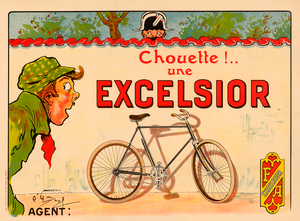 Excelsior Bicycle Poster bu O'Galop