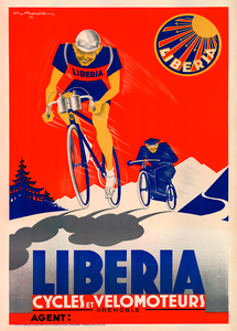 Cycles Liberia Bicycle Poster by G. Gorde