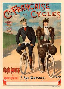 Cie Francaise des Cycles Vintage Bicycle Poster Print