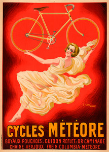 Cycles Meteore Bicycle Poster by Courchinoux