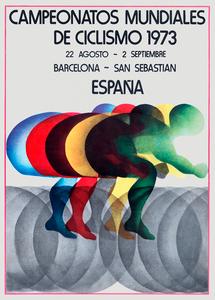 1973 World Cycling Championships Poster Print
