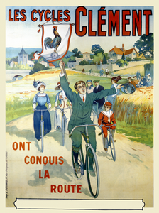 Les Cycles Clement Poster