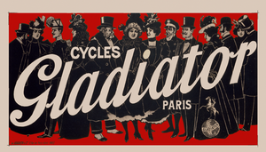 Cycles Gladiator Red Poster