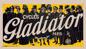 Cycles Gladiator Yellow Poster