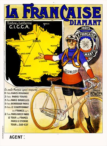 La Francaise Diamant TDF Poster