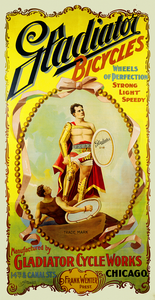 Cycles Gladiator Vintage American Bicycle Poster