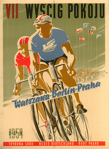 Peace Race 1954 Bicycle Poster