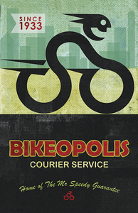 Bikeopolis Courier Service by John Evans