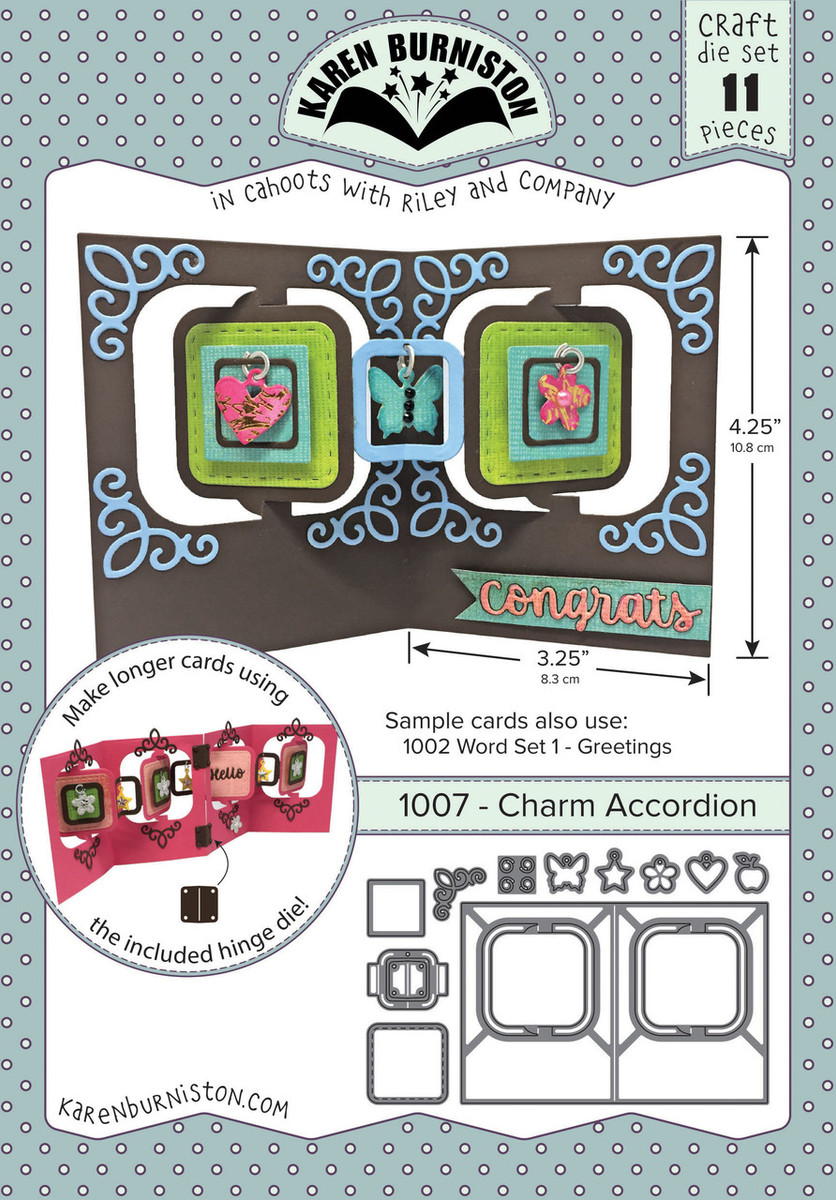 Charm Accordion Die Set