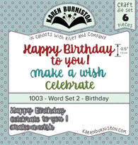 Word Set 2: Birthday Die Set