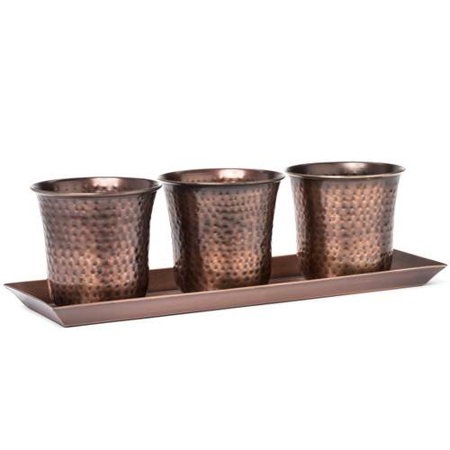 H Potter Set of Three Mini Flower Garden Window Box Planter Pots Antique Copper