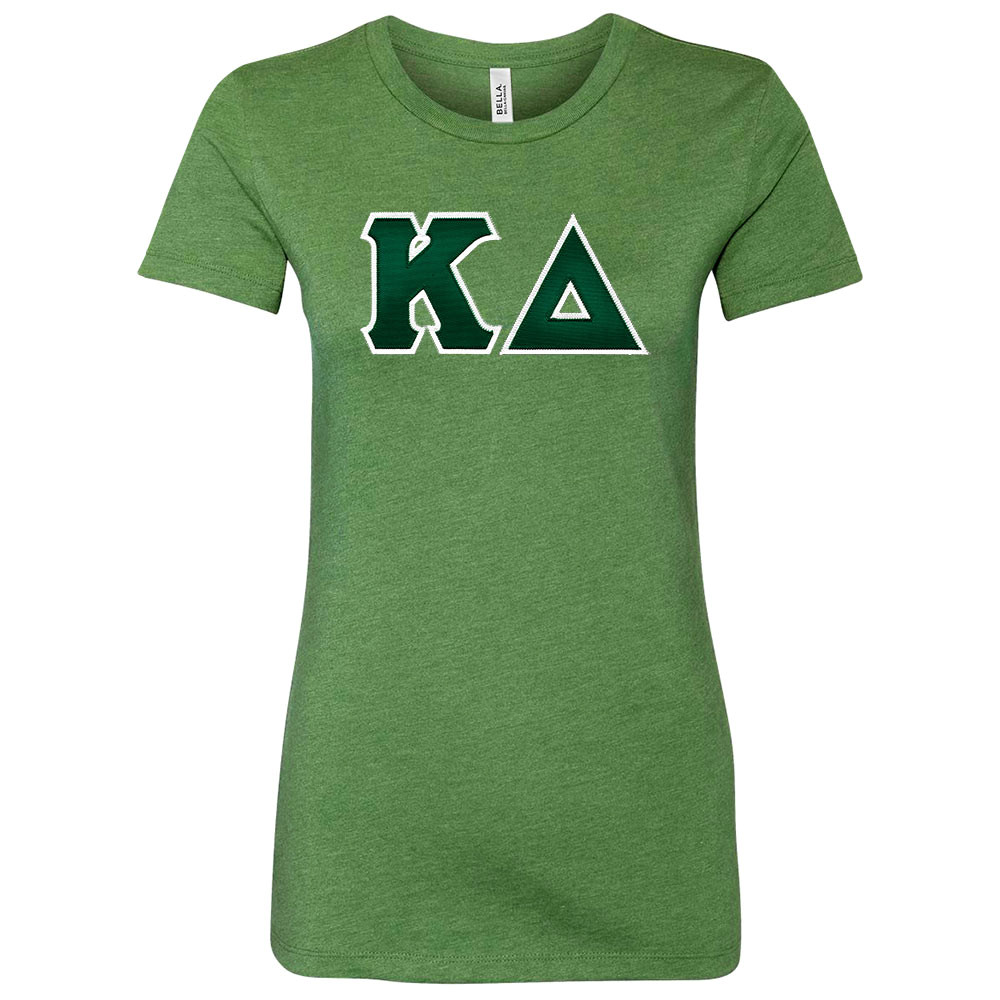Sorority Bella Sewn-On Letters Short Sleeve T-Shirt