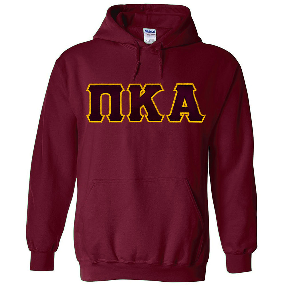 Fraternity & Sorority Lettered Gildan Hooded Sweatshirt
