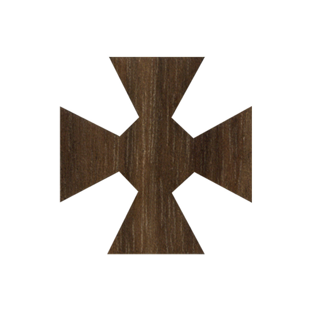 Wooden Maltese Cross Symbol