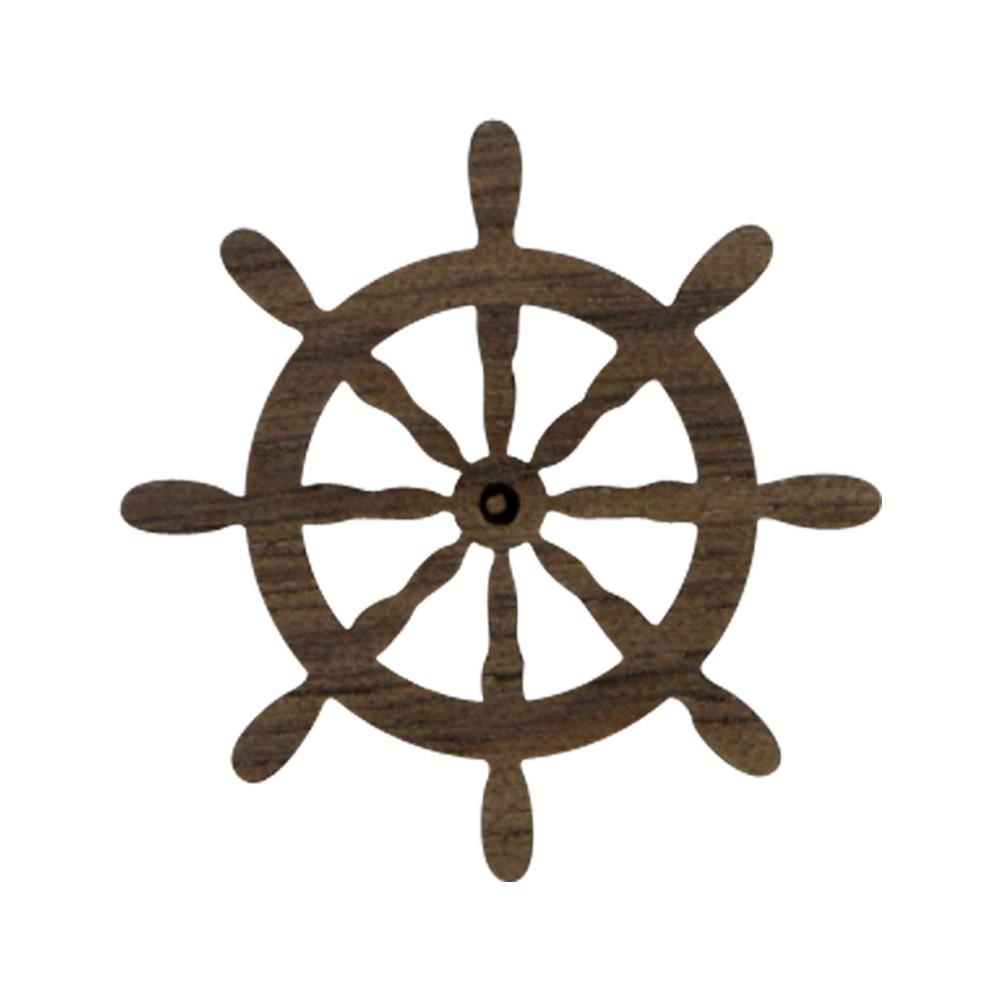 Wooden Captain's Wheel Symbol
