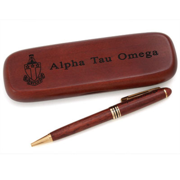 Personalized Pen With Custom Rosewood Case