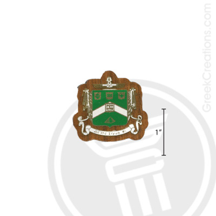 Delta Sigma Phi Small Raised Wooden Crest