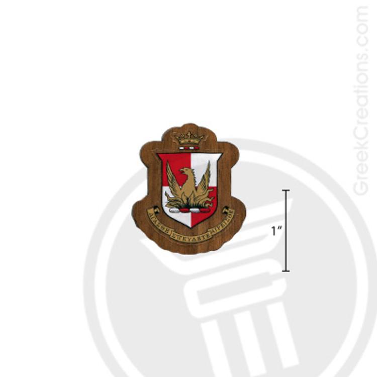 Alpha Sigma Alpha Small Raised Wooden Crest