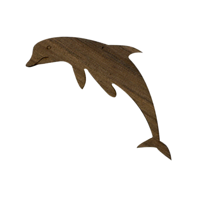 Wooden Dolphin Symbol