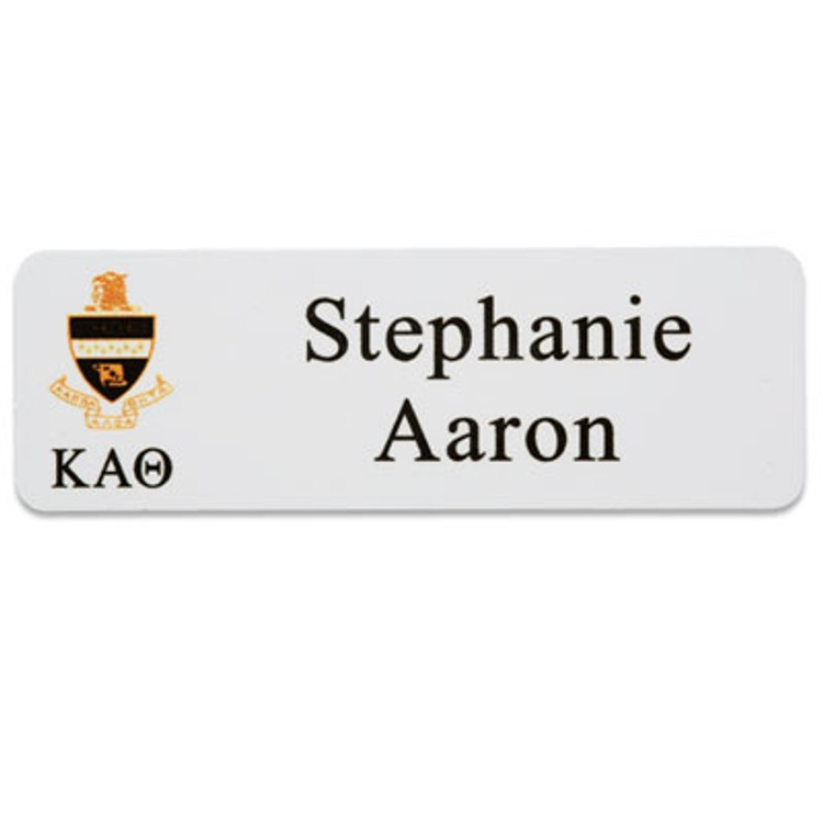 Greek Fraternity and Sorority Name Badge With Magnet