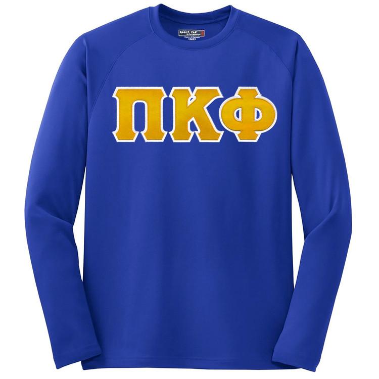 Fraternity & Sorority Sport Tek Dry Zone Lettered Long Sleeve Shirt