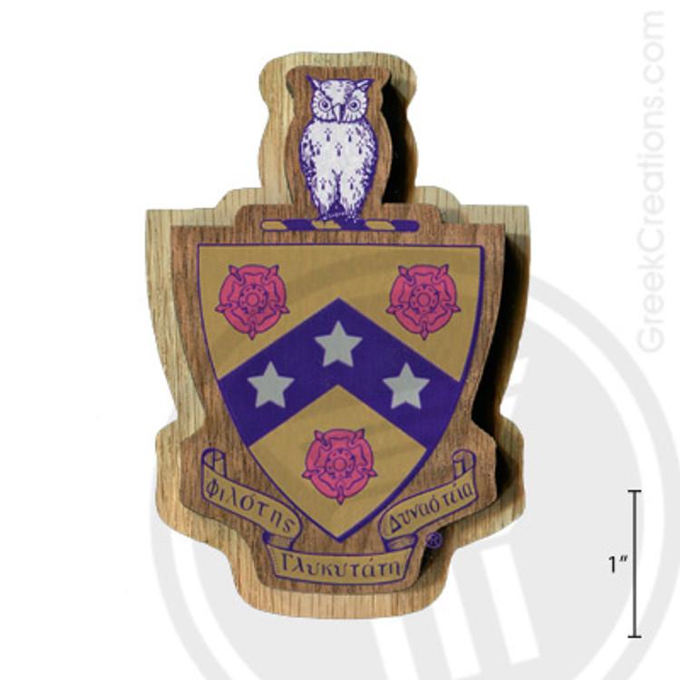 Phi Gamma Delta Large Raised Wooden Crest