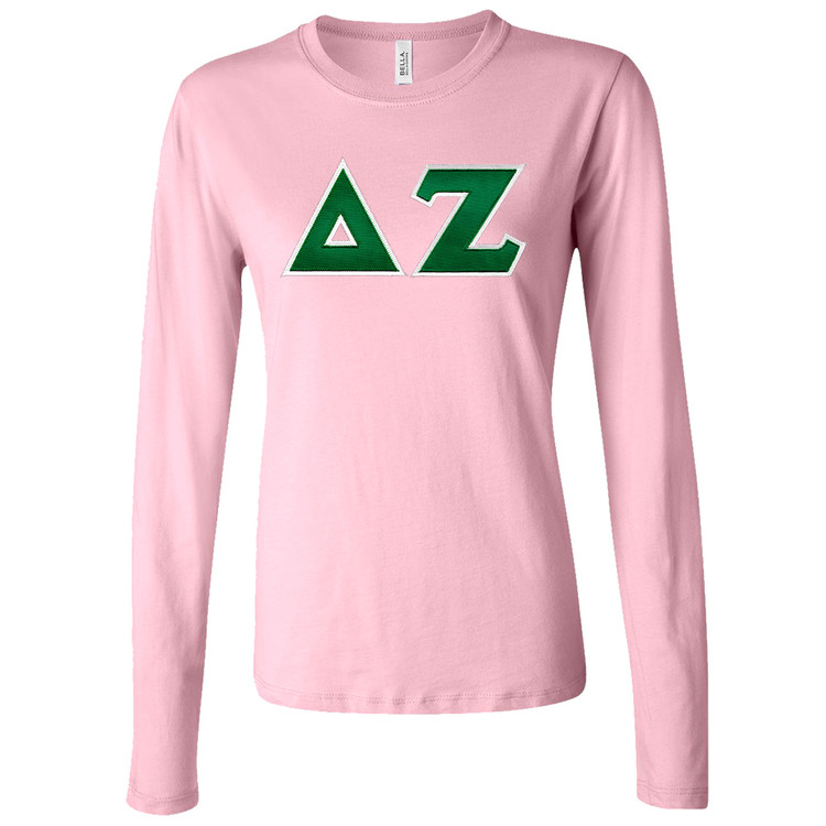 Sorority Bella Sewn-On Letters Long Sleeve T-Shirt