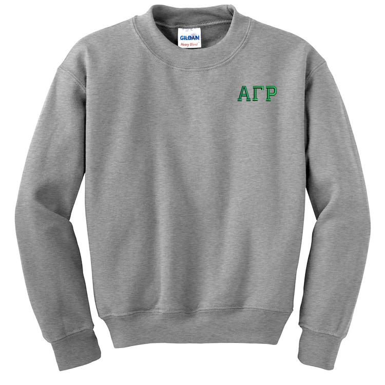 Fraternity & Sorority Embroidered Gildan 8 ounce 50/50 Crewneck Sweatshirt