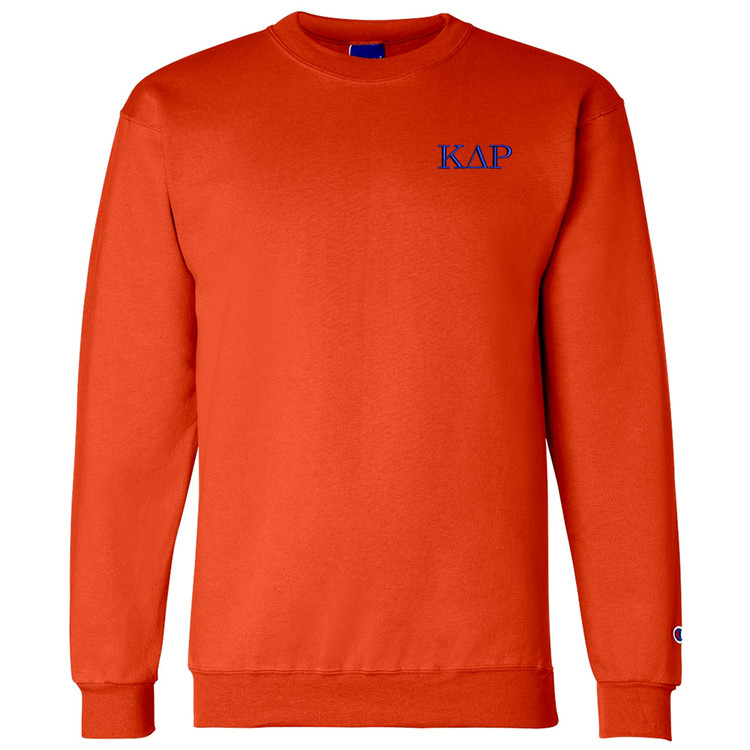 Fraternity & Sorority Champion Brand Embroidered 9 ounce 50/50 Crewneck Sweatshirt