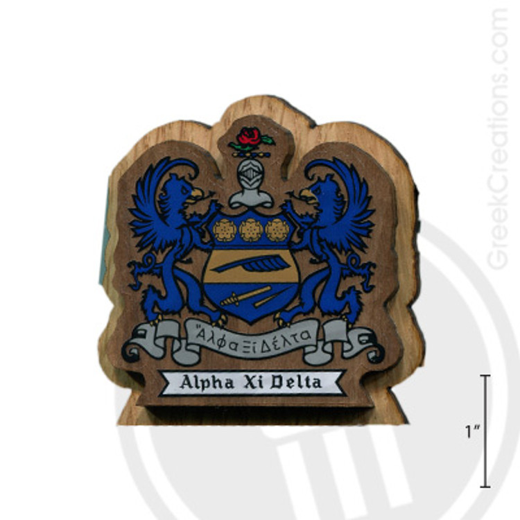 Alpha Xi Delta Large Raised Wooden Crest