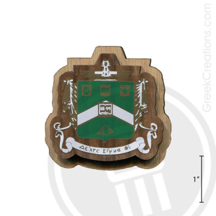 Delta Sigma Phi Large Raised Wooden Crest