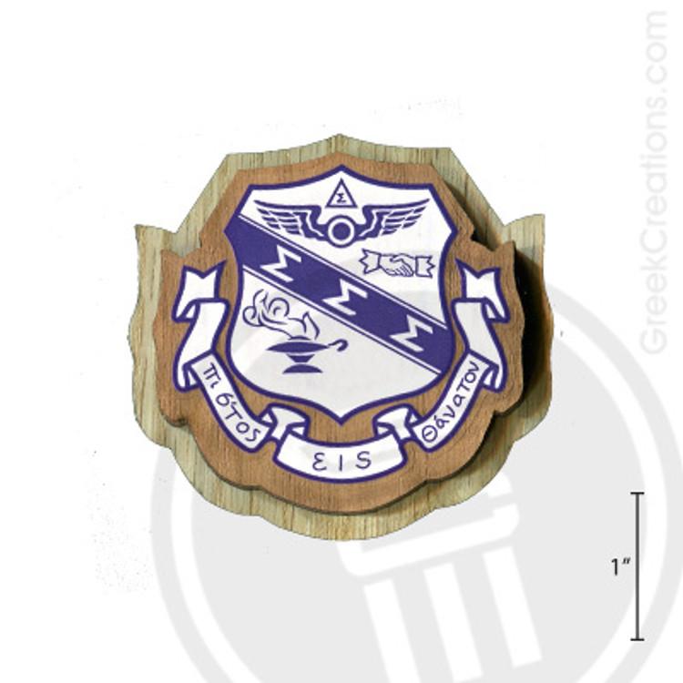 Sigma Sigma Sigma Large Raised Wooden Crest