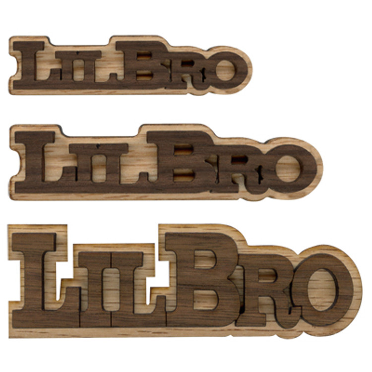 Double Layer Logo Text - Lil Bro