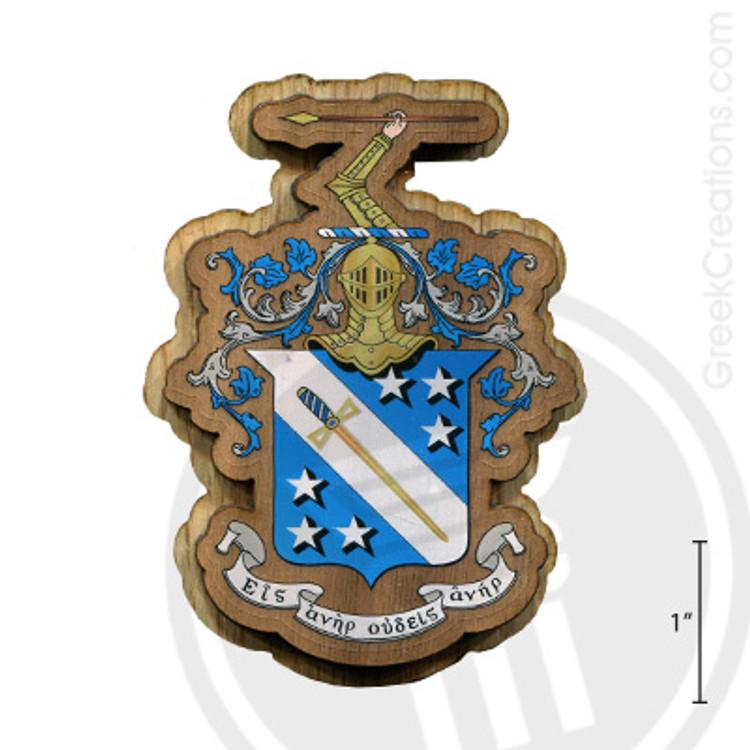 Phi Delta Theta Large Raised Wooden Crest
