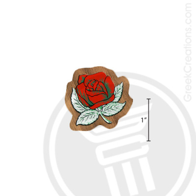 Alpha Omicron Pi Small Raised Wooden Crest
