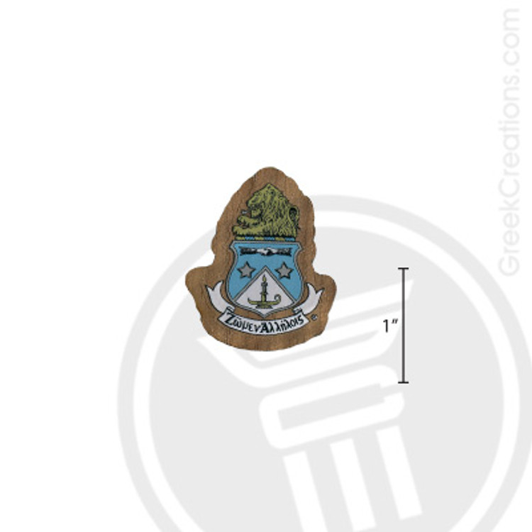 Alpha Delta Pi Small Raised Wooden Crest