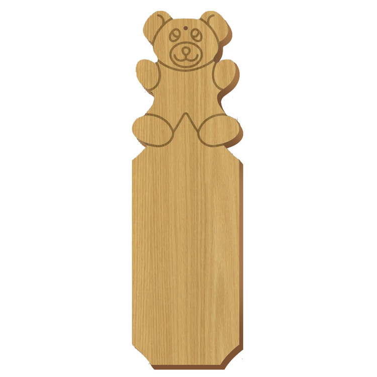 Blank Bear Symbol Oak Plaque
