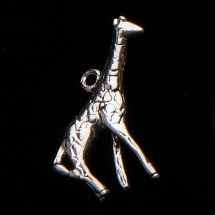 Sterling Silver Giraffe Mascot Symbol Charm