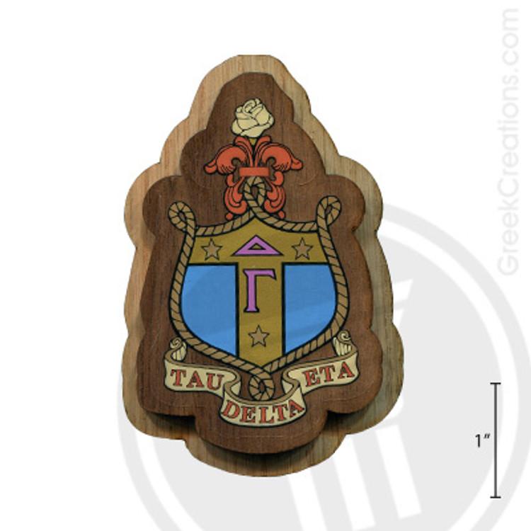 Delta Gamma Large Raised Wooden Crest