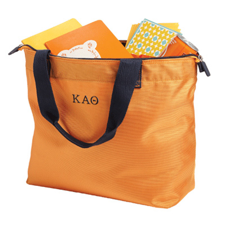 Splash Zippered Tote with Embroidery
